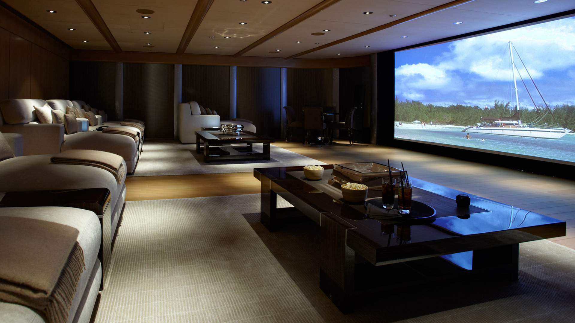 Latest-design-home-theater-basement